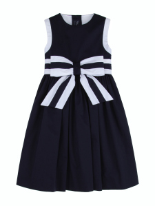 oscar-de-la-renta-navy-bow-front-dress